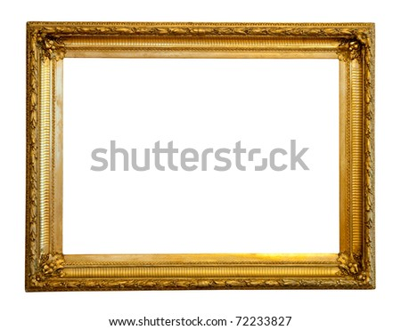 Old Gilded Frame Isolated Over White Stock Photo (Royalty Free ...