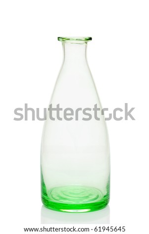 Old glass bottle - stock photo