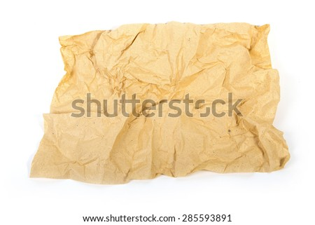 Old gold crumpled paper texture