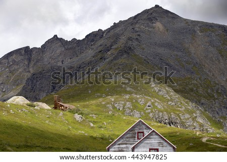 Old gold mine in Alaska - stock photo