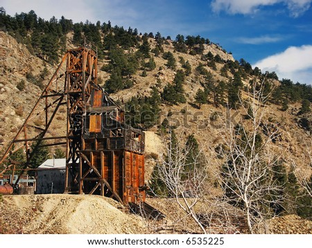 Old Gold Mine in Colorado - stock photo