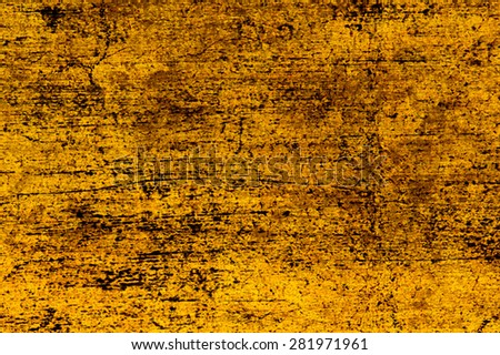 Old gold pattern wooden background. - stock photo