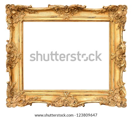 old golden frame. beautiful vintage background