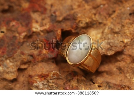 Old golden ring - stock photo