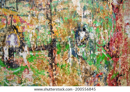 Old Graffiti wall as urban background or street art backdrop. - stock photo