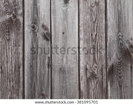 Old grain gray wooden wall background, wood texture, pattern - stock photo