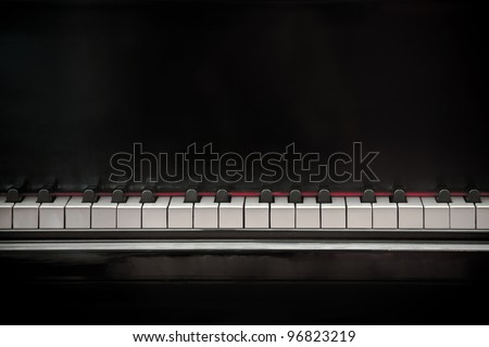 Old Grand Piano - stock photo
