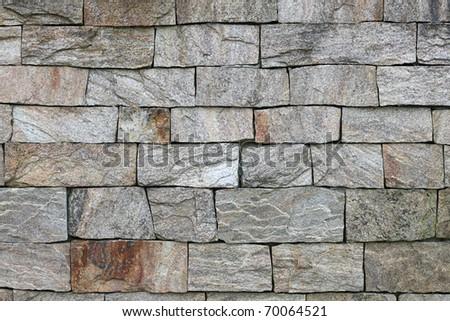 old granite stone wall texture - stock photo