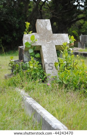 Old grave site - stock photo