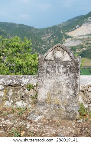 Old graveyard in France - stock photo
