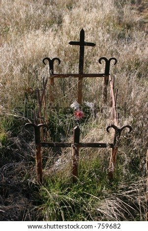 Old graveyard in new mexico