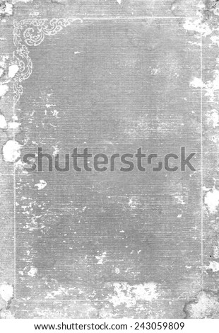 Old gray book cover. - stock photo
