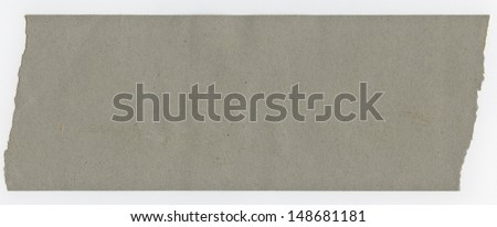 old gray paper isolated on white background  - stock photo