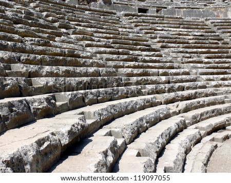 Old greek amphitheater Aspendos - Turkey - stock photo