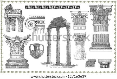 Roman Architecture Columns roman architecture stock images, royalty-free images & vectors