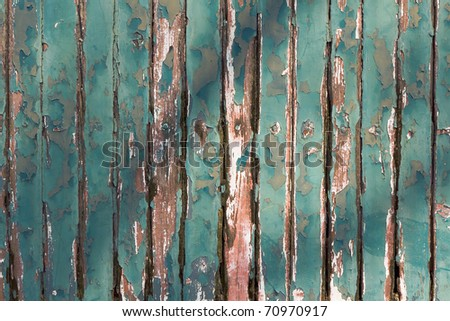 Old Green chipping wood wall for background