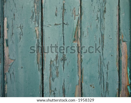 Old green paint on wood