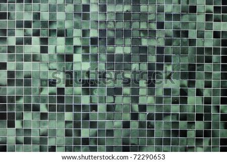 old green seamless tiles - stock photo