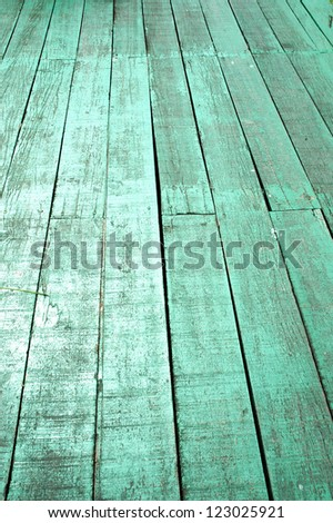 old green wood floors - stock photo