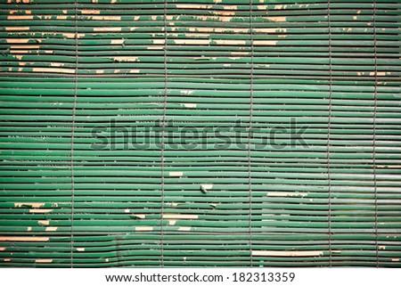 old green wooden jalousie  - stock photo