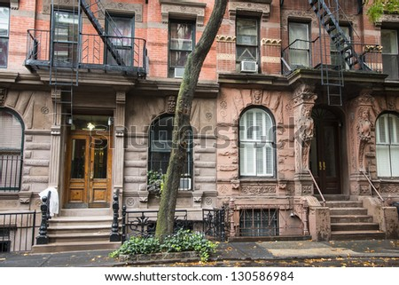 Old Greenwich Village Apartment Buildings In New York City