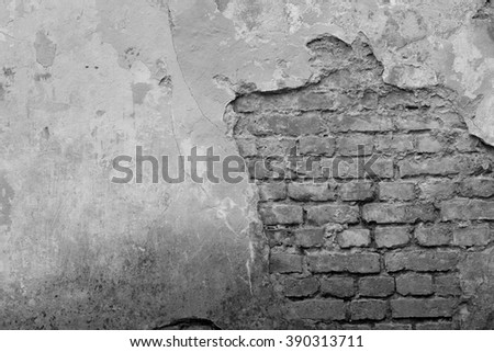 Old grey wall. Grunge textured background - stock photo