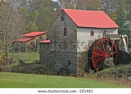Old gristmill - stock photo