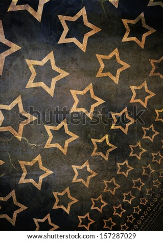 Old Grunge abstract stars background