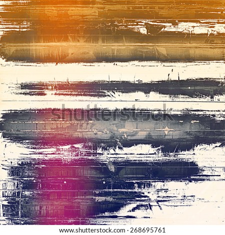 Old grunge antique texture. With different color patterns: brown; yellow (beige); purple (violet); blue - stock photo