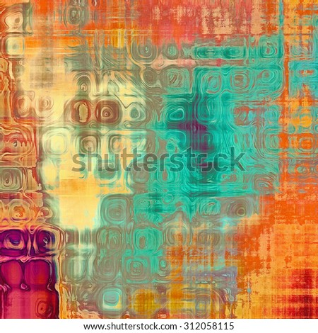 Old grunge antique texture. With different color patterns: yellow (beige); blue; red (orange); purple (violet) - stock photo