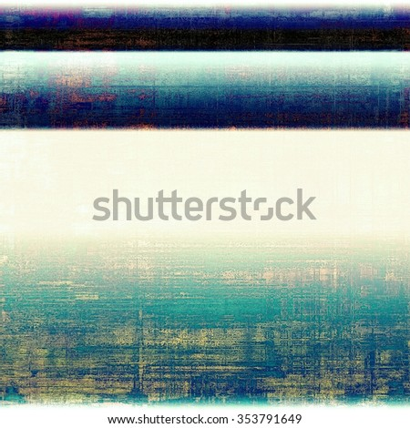 Old grunge antique texture. With different color patterns: yellow (beige); blue; white; black - stock photo