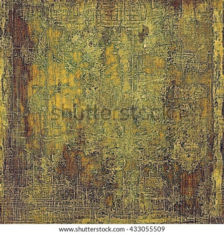 Old grunge background or aged shabby texture with different color patterns: yellow (beige); brown; green; gray - stock photo