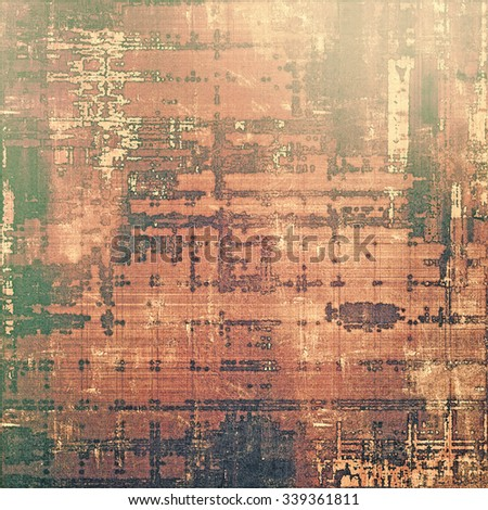 Old, grunge background or ancient texture. With different color patterns: yellow (beige); brown; gray; green - stock photo
