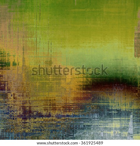 Old, grunge background or ancient texture. With different color patterns: yellow (beige); brown; blue; green; gray - stock photo
