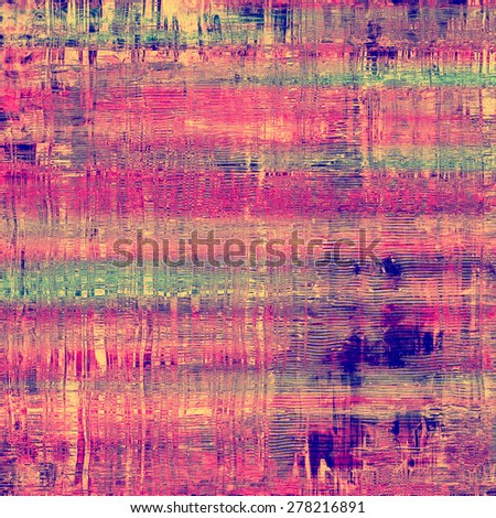 Old, grunge background texture. With different color patterns: green; purple (violet); blue; pink - stock photo