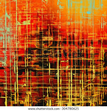 Old, grunge background texture. With different color patterns: yellow (beige); black; cyan; red (orange) - stock photo