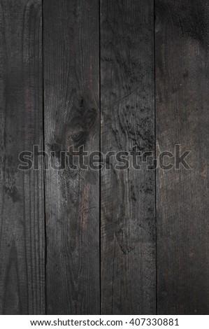 old grunge black wood texture - background - stock photo