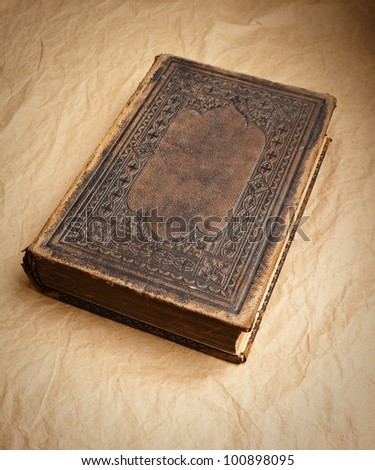 Old Grunge Book - stock photo