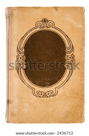 old grunge book cover with path - stock photo