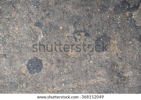 old grunge cracked grey rough concrete floor texture on road. - stock photo