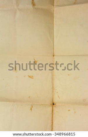 Old grunge crumpled paper sheet texture