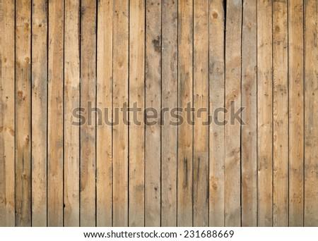Old grunge fence of wood panels, background - stock photo