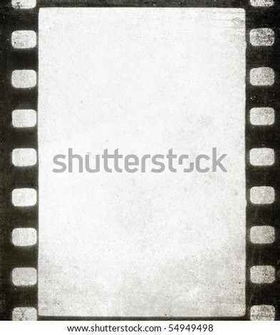 Old grunge filmstrip - background with space for text - stock photo