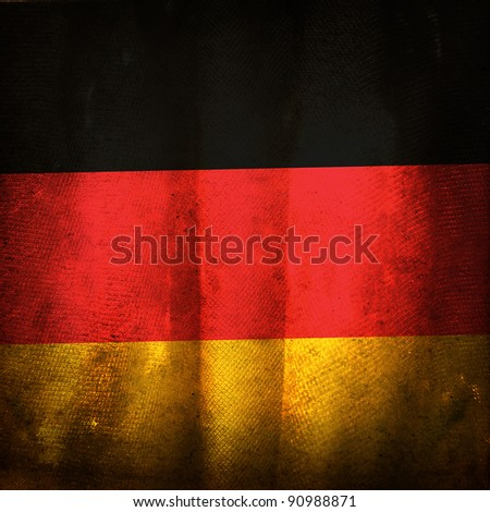 Old grunge flag of Germany - stock photo