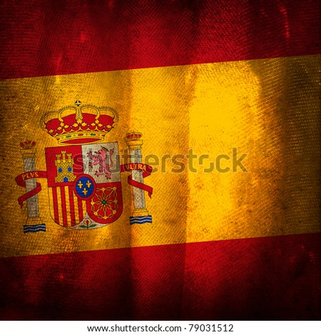Old grunge flag of Spain