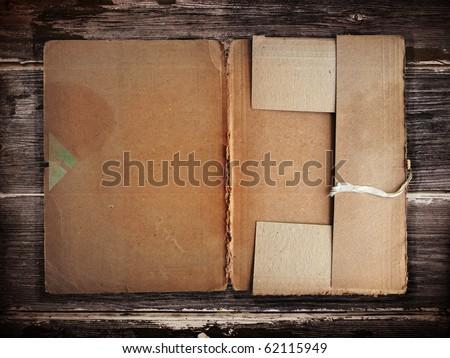 Old grunge folder - stock photo