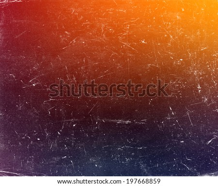 Old grunge gradient colorful background with scratches  - stock photo