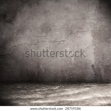 old grunge interior - stock photo