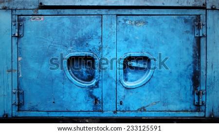 Old grunge metal door - stock photo