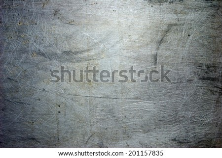 old grunge metal plate steel background - stock photo